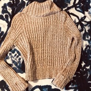Free People crop turtleneck sweater